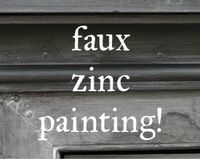 freckled laundry shows fabulous tutorials for her faux zinc.  coffee table redo?