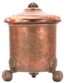 COPPER PLATED BEER STEIN