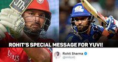 Rohit Sharma welcomes Yuvraj Singh to Mumbai Indians with heartwarming message Yuvraj Singh, Mumbai Indians, Premier League, Football Helmets, Sports, Hs Sports, Sport