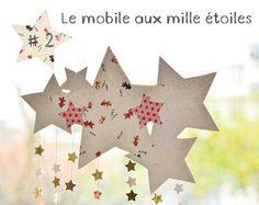 DIY Christmas paper stars/un mobile pleins d'étoiles (in French & English)