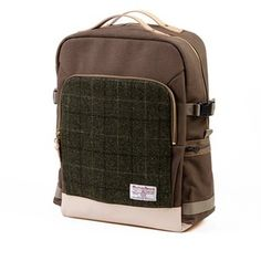 Sweetch backpack L khaki x Harris tweed