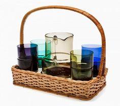 Glass drinks set by Finnish designer Saara Hopea.