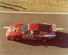 Bob Tullius, Jean-Pierre Dalaunay and Pat Bedard drove this Ferrari 512BB in the 24 Hour Pepsi Challenge at Daytona International Speedway. The car only made 72 laps before retiring and the team was credited with 57th place. 1979.
