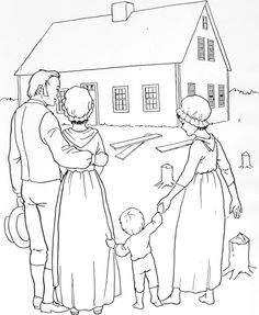 Pioneer Children Coloring Pages