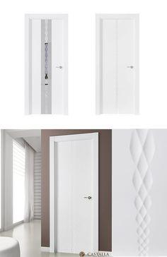 Puerta de Interior Blanca | Modelo Klee de la Serie Lacada de Puertas Castalla. Puerta Lacada blanca