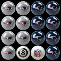 New England Patriots Home vs. Away 8-Ball Billiard Team Ball Set: Take your favorite team… #IceHockeyStore #IceHockeyShop #IceHockeyJerseys