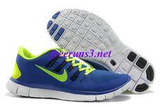 on sale edc22 92e78 47nE47 Mens Nike Free 5.0 Royal Blue Volt Running Shoes Nike Sb Shoes, Shoes  Uk