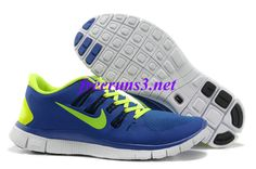 new concept 88c82 c0b71 47nE47 Mens Nike Free 5.0 Royal Blue Volt Running Shoes Nike Sb Shoes,  Shoes Uk