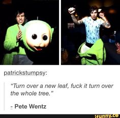 I have a really bad mental image of pete screaming and flippjng trees in the background... ;-;