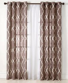 Elrene Home Fashions Medalia Window Panel Comes in Spa Blue Medallion Geometric pattern on poly / linen panel Grommet Window Panel polyester / linen Unlined Machine Washable Linens & Things to Tall Window Treatments, Window Coverings, Velvet Curtains, Drapes Curtains, Linen Curtain, Curtains Living, Drapery, Patio Door Curtains, Custom Drapes
