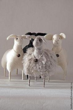 Knitting sheep or goatStrike a pose,darlineThe joy of making felt crafts. Needle Felted Animals, Felt Animals, Wet Felting, Needle Felting, Felt Crafts Patterns, Sheep Art, Sheep And Lamb, Felting Tutorials, Little Doll