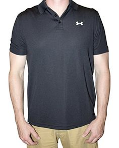 Under Armour Men UA Golf Performance Logo Polo TShirt L Black *** Visit the image link more details. Note:It is Affiliate Link to Amazon.