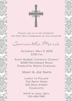 First Holy Communion Invitation    religious by TheButterflyPress, $12.00