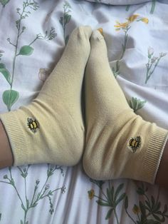 Image about aesthetic in yellow by luján on We Heart It Funky Socks, Cute Socks, My Socks, Frilly Socks, Vogue, Mode Inspiration, Sock Shoes, Look Cool, What To Wear