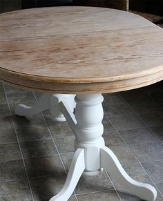 painted furniture refinish oak table old, dining room ideas, painted furniture, woodworking projects