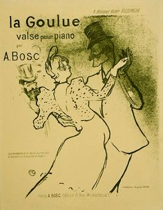 French poster, Toulouse Lautrec