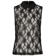 TOPSHOP Lace Collar Shell Top ($70) ❤ liked on Polyvore