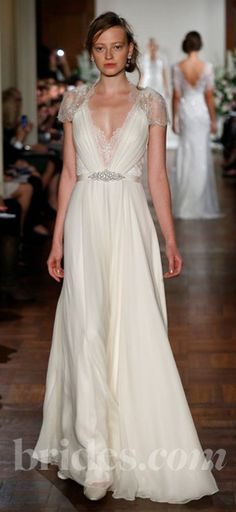 5f0afc26d5d6 The flowing fabric, plunging neckline and embellished shoulders are my  favorite things ever!