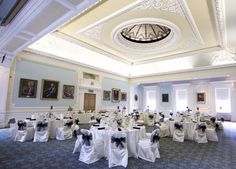 Royal College of Surgeons wedding reception, white & blue wedding theme