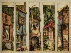 Gebirgsdorf. 5 (von 6) Seitenkulissen. Von Schreiber Nr. 29 [Alte Serie].