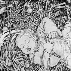 Graphic illustration by Viktor Gornostaev - Alice (2012) #sokrovvenno  #art #arts #graphics #graphic #artoftheday #picture #artist #gallery #masterpiece #creative #design #abstract #composition #geometry #artwork #design #illustration #photo #blackandwhite #digitalart #canvas #painting #drawing