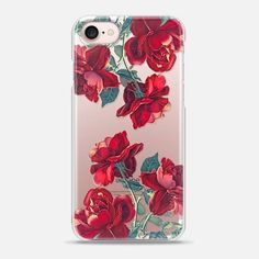 Snap iPhone 7 Case - Red Roses (Transparent) 8b0796122ea