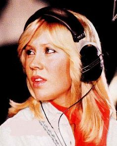 Agnetha in the studio in 1978.  No smiles here...