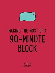 Whether you're brand-new to block scheduling or you've been doing it for years, these strategies will have you handling those 90 minutes like a boss. - Cult of Pedagogy Instructional Coaching, Instructional Strategies, Teaching Strategies, Teaching Tips, Instructional Technology, High School Classroom, Classroom Ideas, Flipped Classroom, English Classroom
