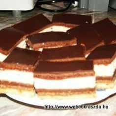 Túrós zserbó Dessert, Tiramisu, Cooking Recipes, Breakfast, Ethnic Recipes, Food, Morning Coffee, Deserts, Chef Recipes
