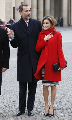 King Felipe VI of Spain and Queen Letizia of Spain visit with German President Joachim Gauck and his partner Daniela Schadt, at Schloss Bellevue, Presidential Pallace, on December 1, 2014 in Berlin, Germany