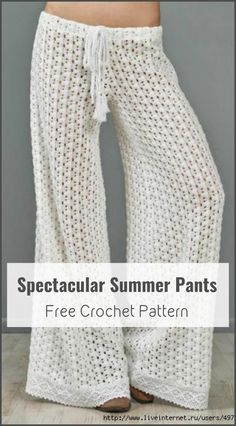 Crochet Spectacular Summer Pants - 110+ Free Crochet Patterns for Summer and Spring - Page 5 of 12 - DIY & Crafts