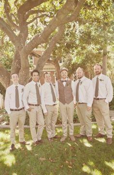 groomsmen in khaki | Groomsmen in Khaki, Groomsen Portrait