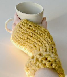 As a beginner knitter, I wanted to find a pattern for fingerless gloves.  There are definitely a lot of patterns out there, but I wanted something fast and that didn't have to be knit in th…