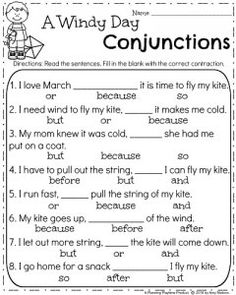 March First Grade Contractions Worksheet
