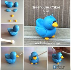 Blue bird fondant tutorial