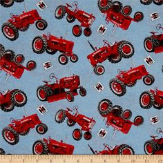 Farmall and IH Tractor Fabric Fat Quarter Bundle Juvenile Tractor Mac Collection