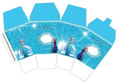 Frozen Birthday Party, Frozen Party, 3rd Birthday, Frozen Cupcake Toppers, Frozen Cupcakes, Frozen Invitations, Paper Box Template, Milk Box, Diy Gift Box
