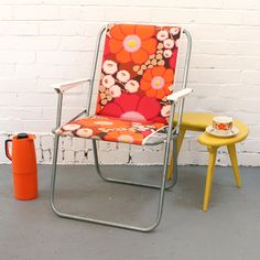 Retro chair and accessories.