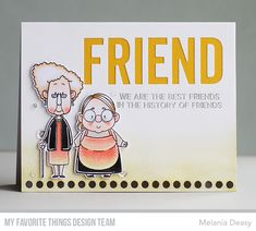 Friend Friendship, Friendship Cards, Cards For Friends, Old Friends, Friend Cards, Card Kit, I Card, Point Words, Cards