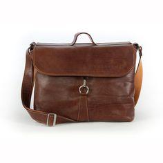 Leather saddlebag.