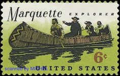 Jacques Marquette & Louis Joliet: http://d-b-z.de/web/2013/08/12/chicago-marquette-pointe-du-sable-briefmarken/