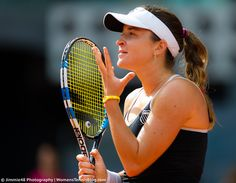 Alexandra Dulgheru's reaction in a match in she ALMOST beat Ana Ivanovic #MMOPEN15