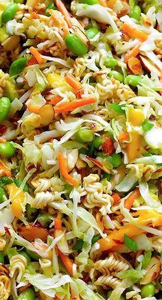 Crunchy Asian Ramen Noodle Salad ~ (a.k.a. Basically The Best Potluck Salad EVER)