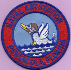 Naval Air Station Pensacola FL Military Insignia, Navy Military, Military Photos, Us Navy Uniforms, Navy Careers, Battle Dress, Morale Patch, Navy Women, Chicago Cubs Logo