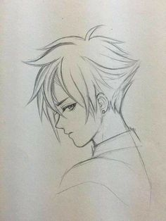 53 Ideas for how to draw hair anime boy hair drawing Anime Drawings Sketches, Pencil Art Drawings, Anime Sketch, Manga Drawing, Manga Art, Cute Drawings, Drawings For Boys, Drawing Tips, Anime Drawing Tutorials