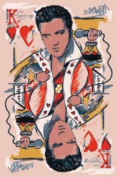"Amazon.com: LA Rug Elvis King of Heart Rug 39""x58"": Home & Kitchen"