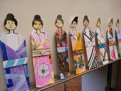 a faithful attempt: Folded Paper Japanese Kimonos