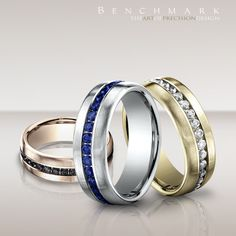 Beauty comes in every color.  #benchmarkrings #fashion #style #love #amazing #beautiful #gold #diamonds #jewelry #wedding #weddingring #weddingband #engagement #engagementring #picoftheday