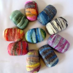 Felted soap! So pretty! From TheTwistedPurl on etsy