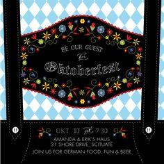 digital invitations - Lederhosen Oktoberfest by Jill Drinan